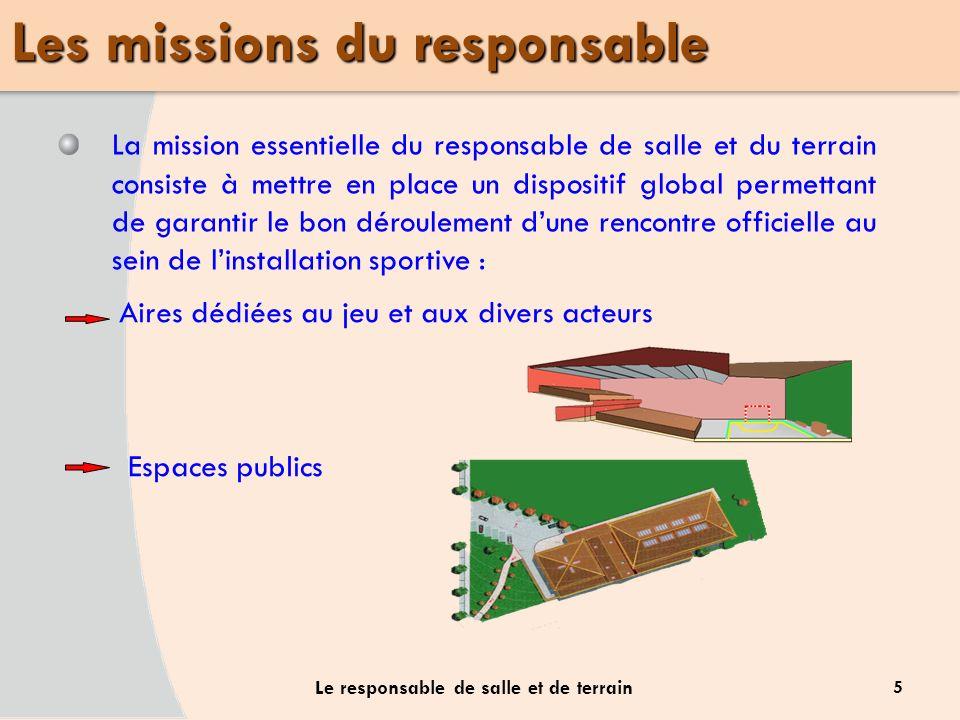 Les missions du responsable