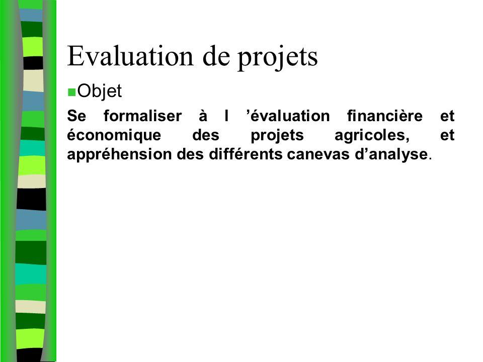 Evaluation de projets Objet