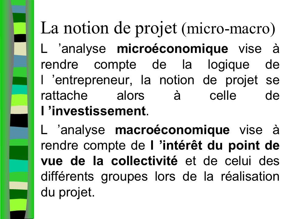 La notion de projet (micro-macro)