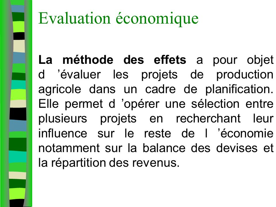 Evaluation économique