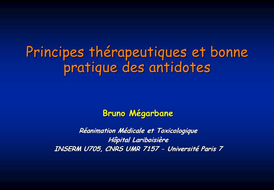 Principes thérapeutiques et bonne pratique des antidotes