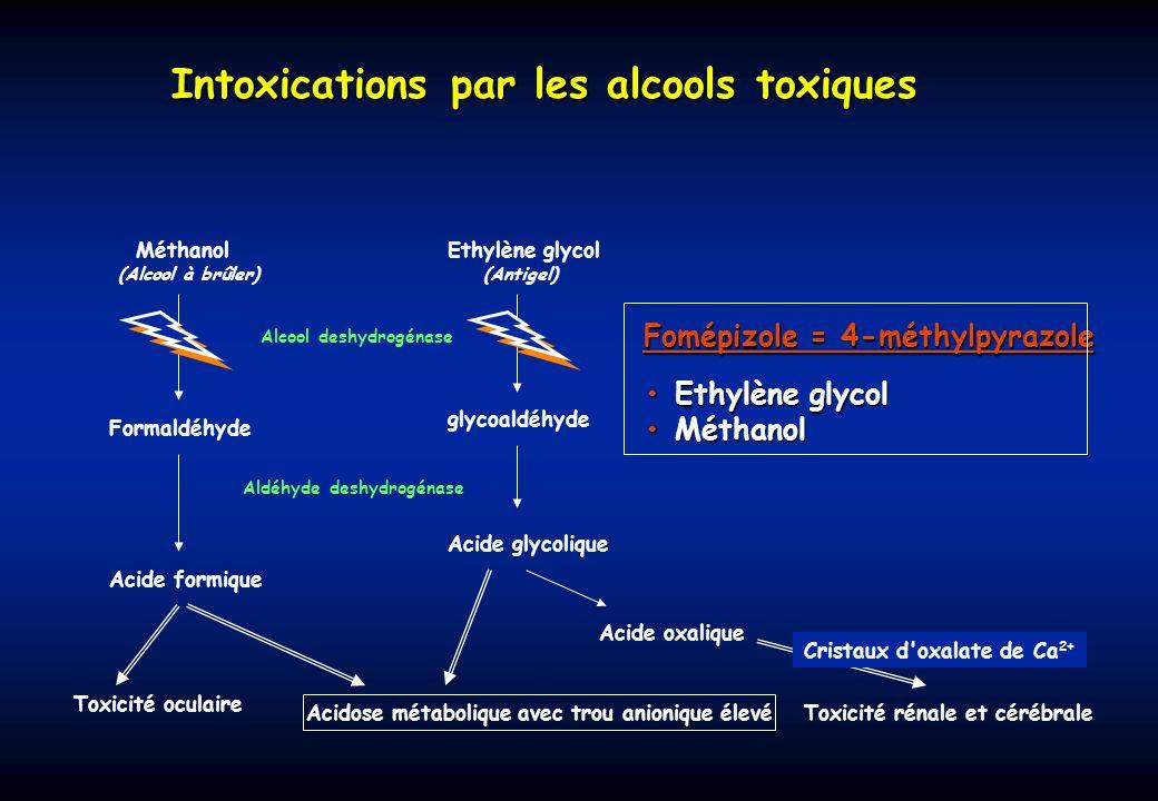 Intoxications par les alcools toxiques