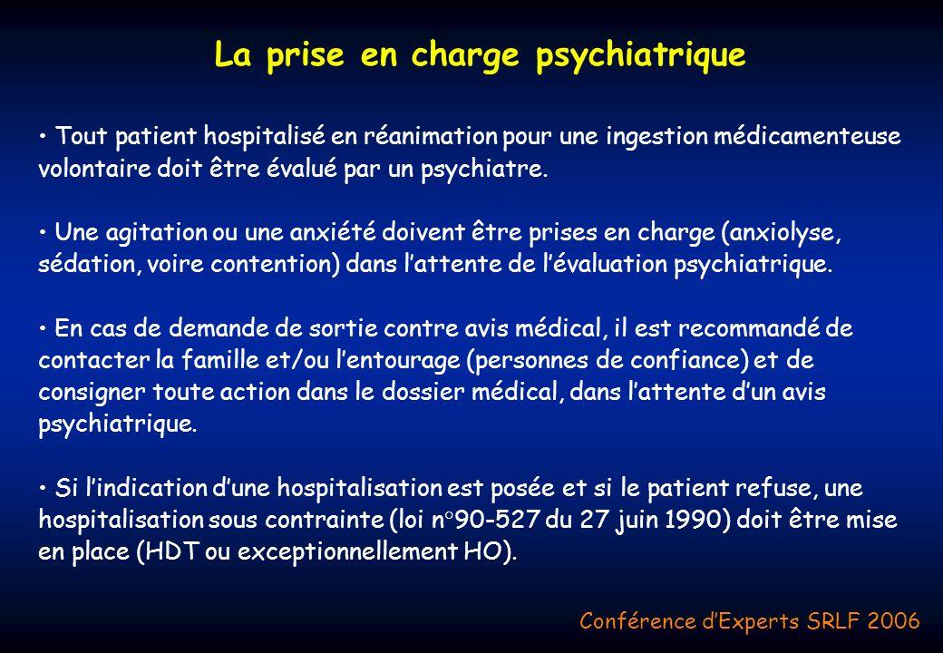 La prise en charge psychiatrique