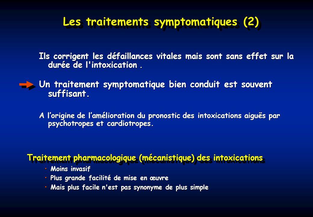 Traitement pharmacologique (mécanistique) des intoxications
