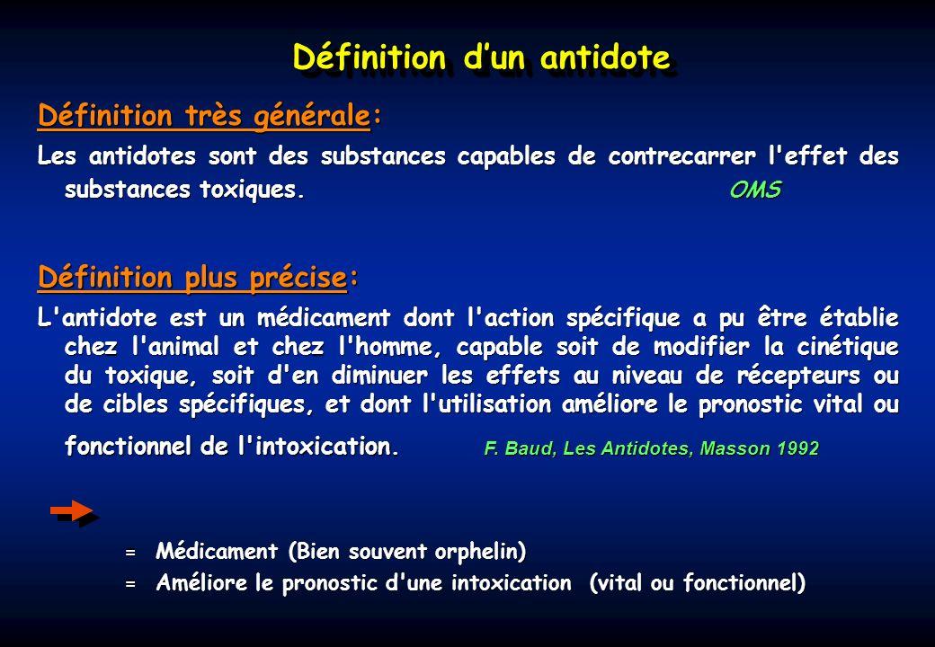 Définition d'un antidote