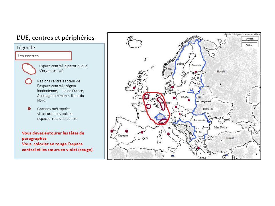 L'UE, centres et périphéries
