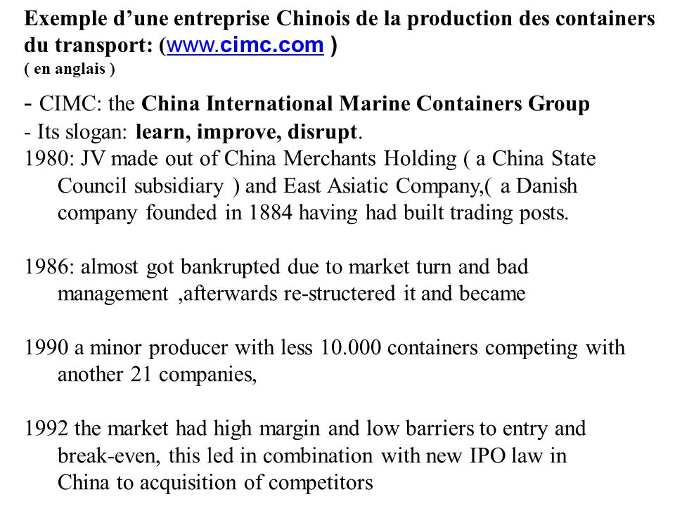 - CIMC: the China International Marine Containers Group