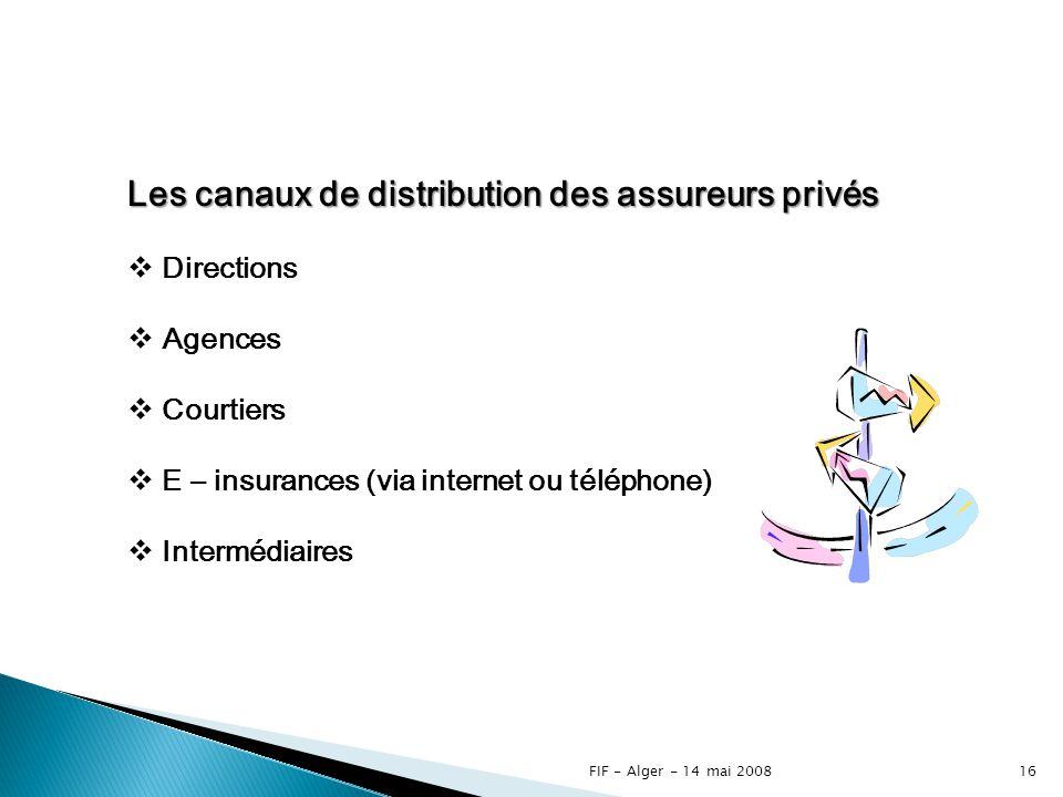 Les canaux de distribution des assureurs privés