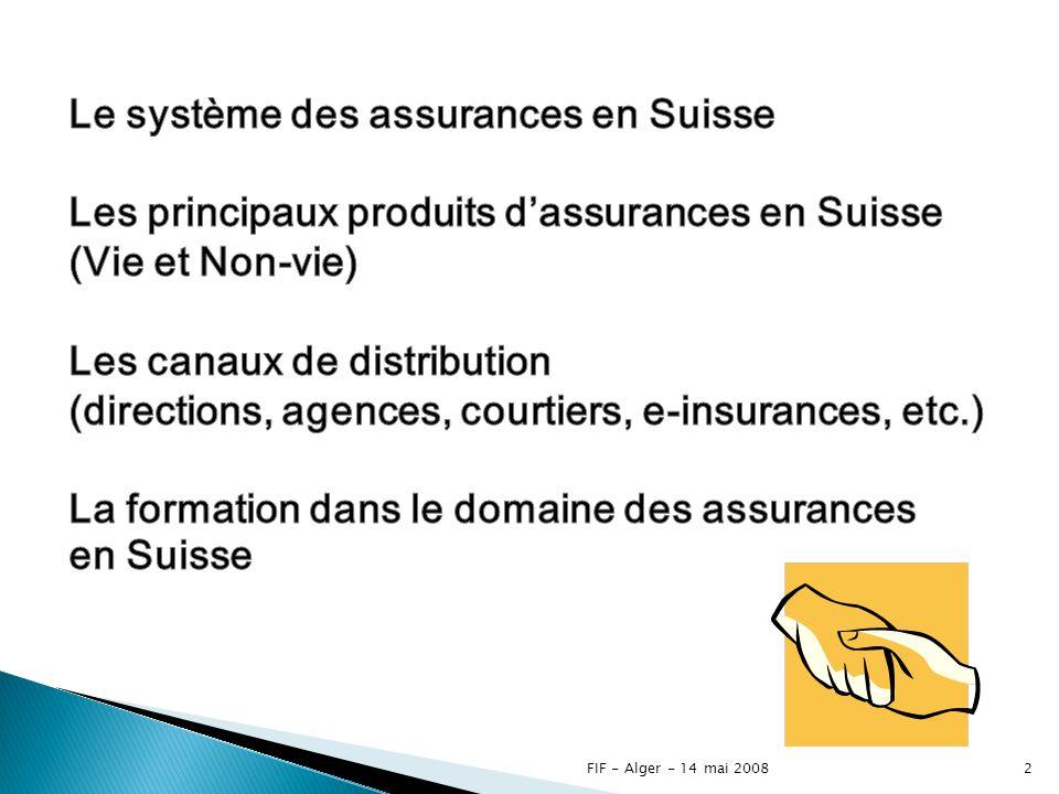 Le système des assurances en Suisse