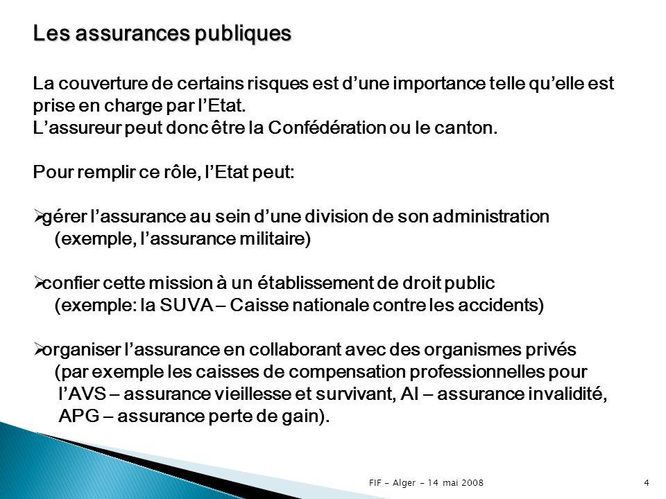 Les assurances publiques