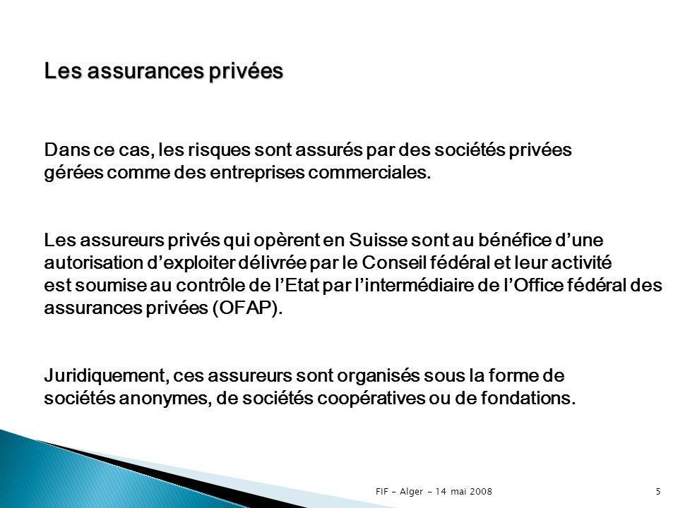Les assurances privées