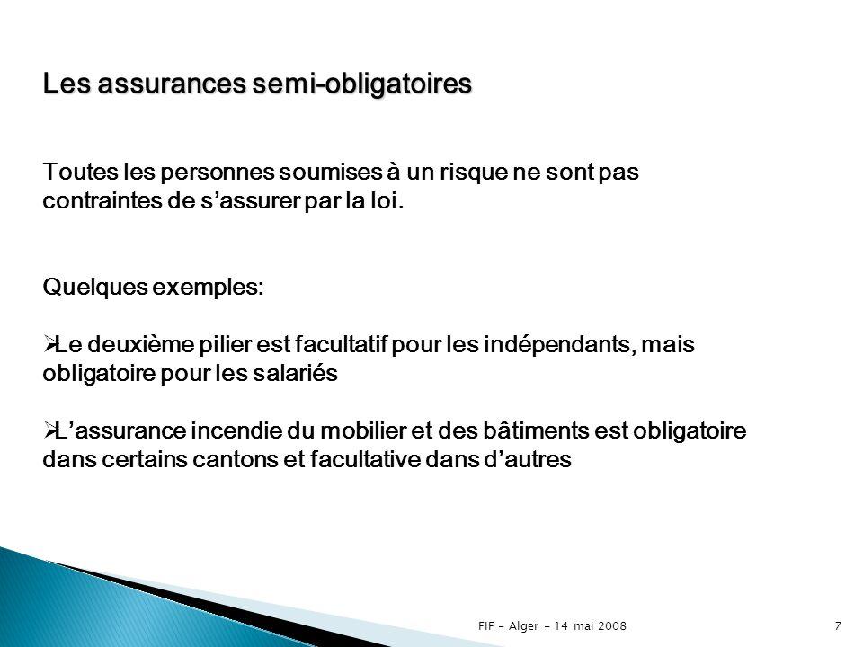 Les assurances semi-obligatoires