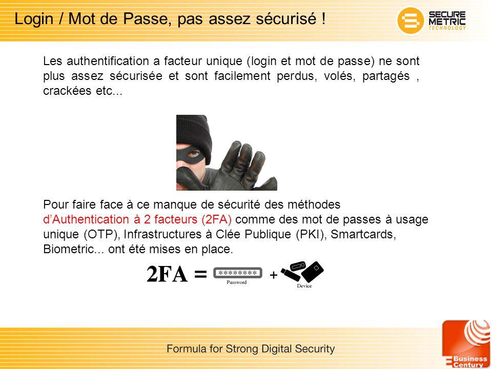 Login / Mot de Passe, pas assez sécurisé !
