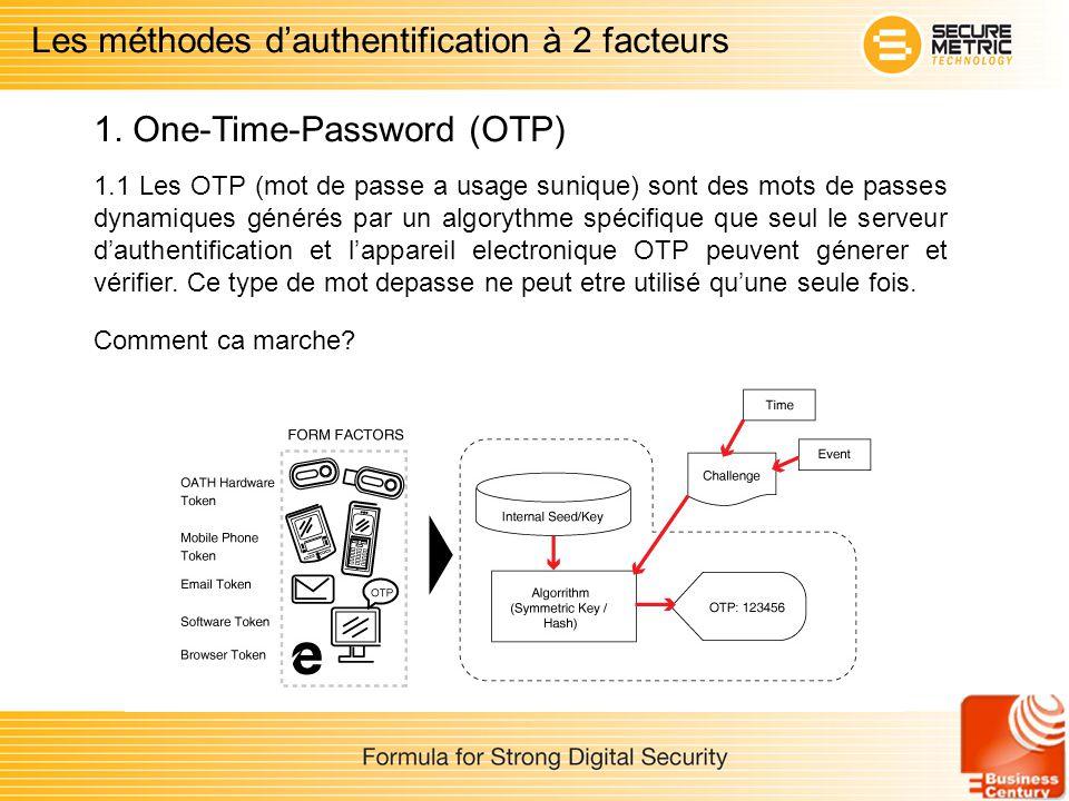 Les méthodes d'authentification à 2 facteurs