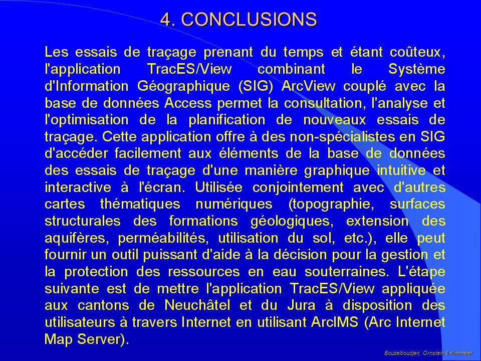 4. CONCLUSIONS Bouzelboudjen, Ornstein & Kimmeier