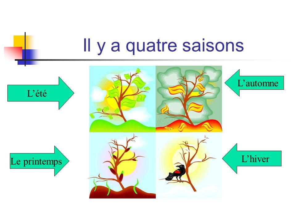 Il y a quatre saisons L'automne L'été L'hiver Le printemps