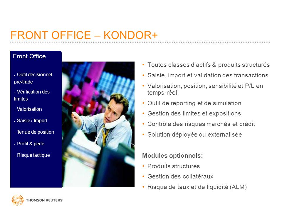 FRONT OFFICE – KONDOR+ Front Office