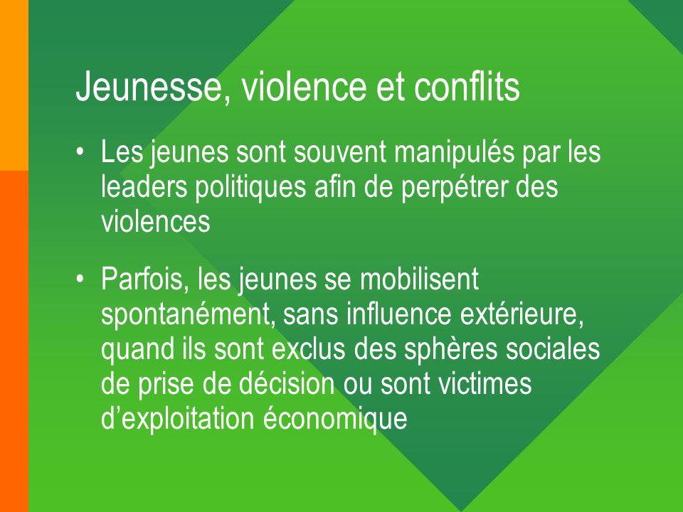 Jeunesse, violence et conflits