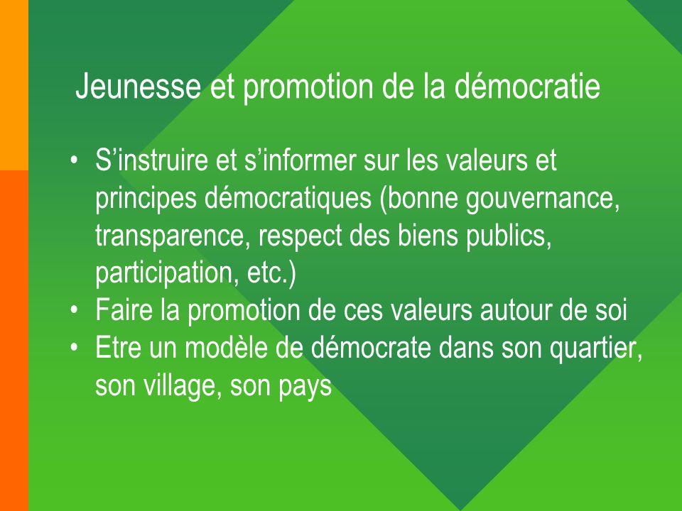 Jeunesse et promotion de la démocratie