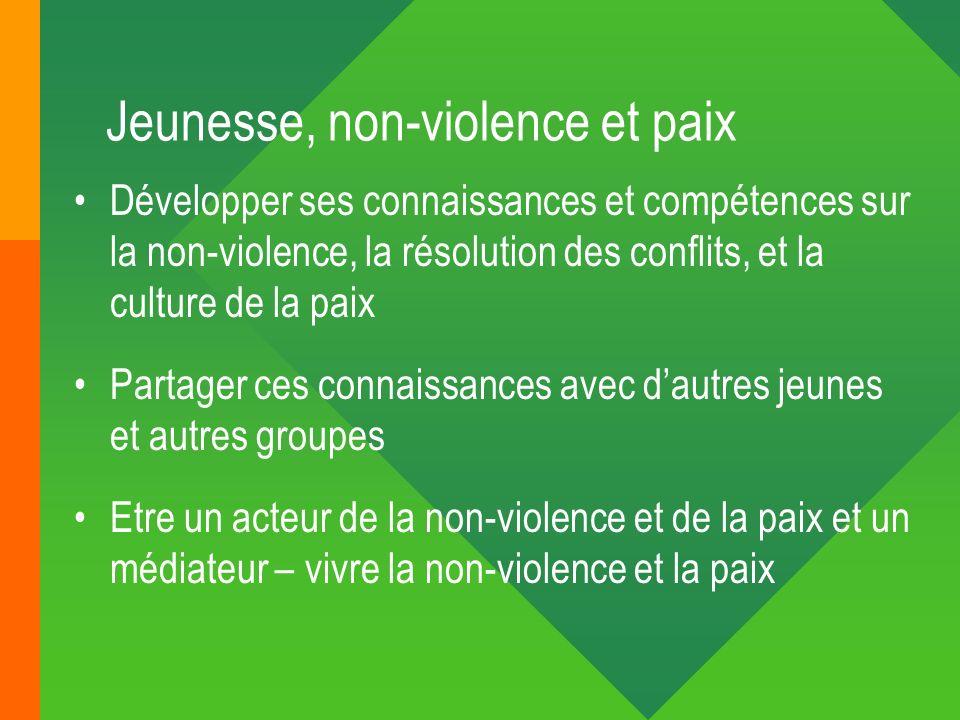 Jeunesse, non-violence et paix