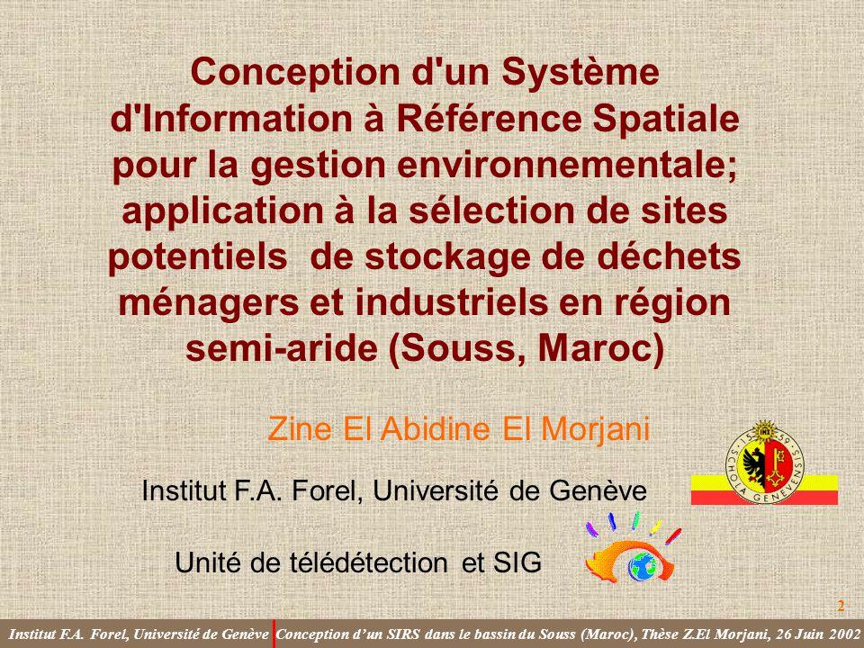 Institut F.A. Forel, Université de Genève