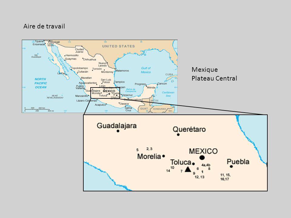 Aire de travail Mexique Plateau Central