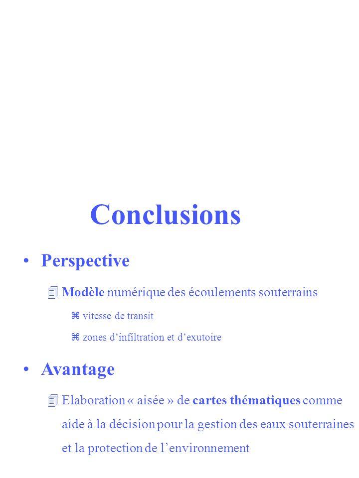 Conclusions Perspective Avantage