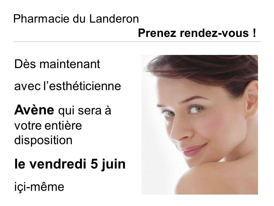 Pharmacie du Landeron Prenez rendez-vous !