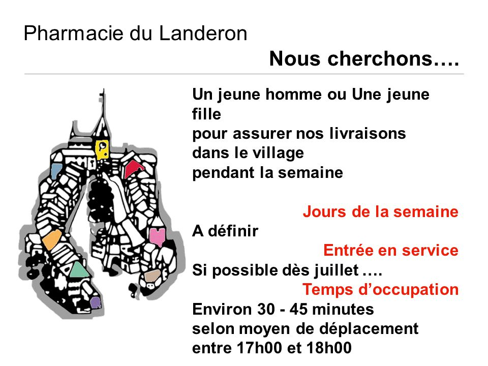 Pharmacie du Landeron Nous cherchons….