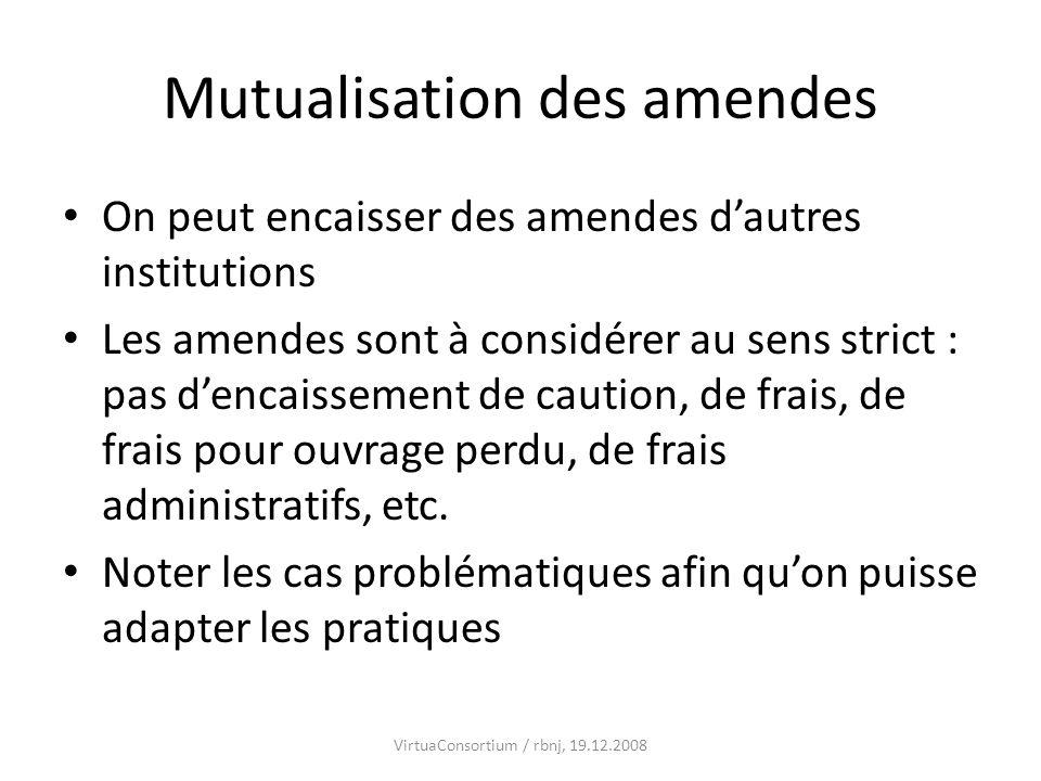 Mutualisation des amendes