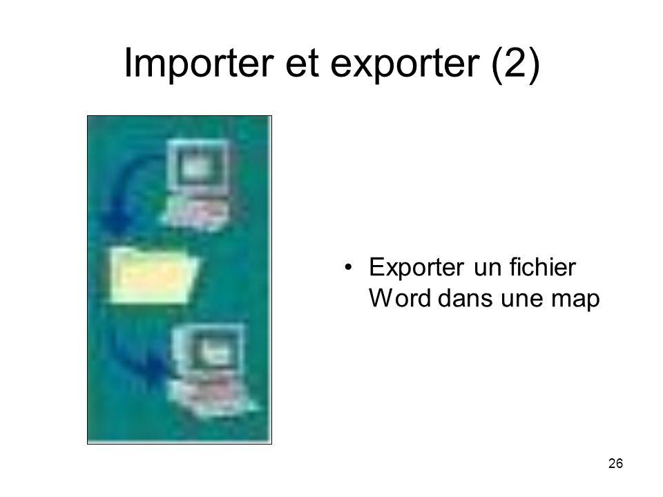 Importer et exporter (2)