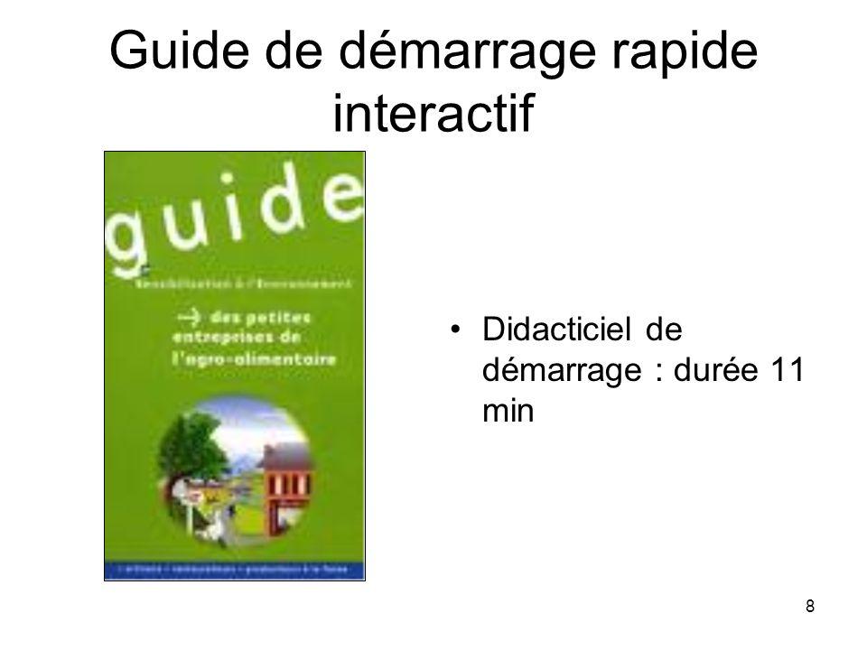 Guide de démarrage rapide interactif