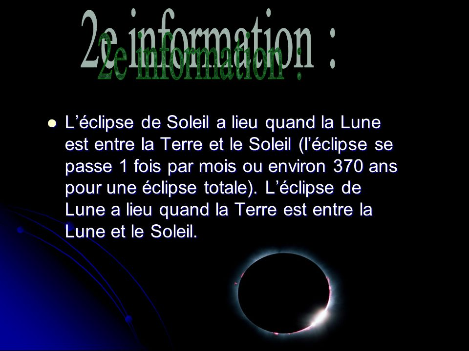 2e information :
