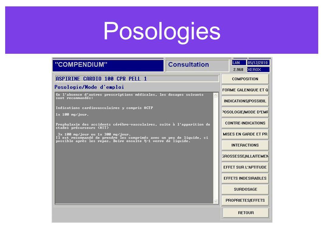 Posologies
