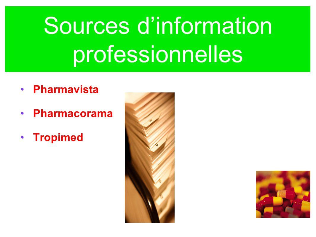 Sources d'information professionnelles