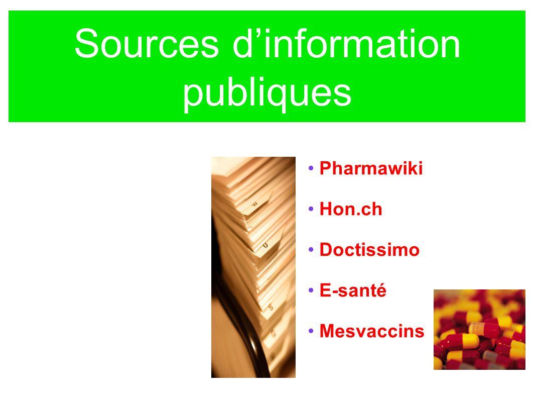 Sources d'information publiques