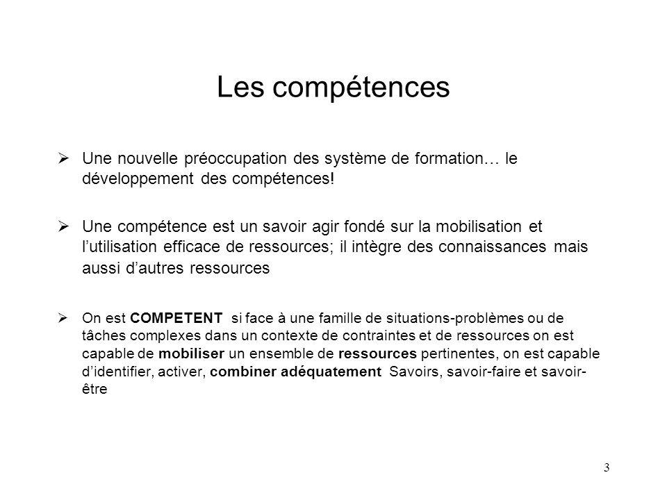 Les compétences Une nouvelle préoccupation des système de formation… le développement des compétences!