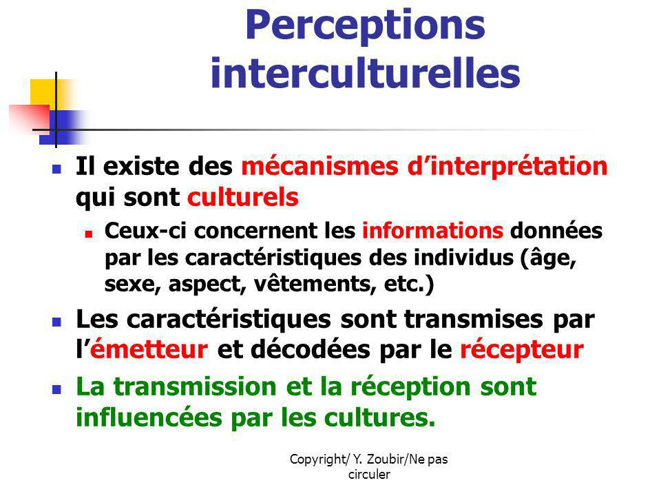 Perceptions interculturelles