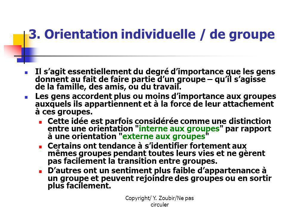 3. Orientation individuelle / de groupe