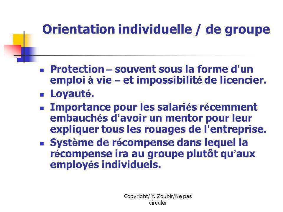Orientation individuelle / de groupe