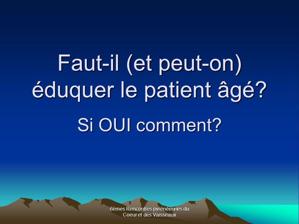 Faut-il (et peut-on) éduquer le patient âgé