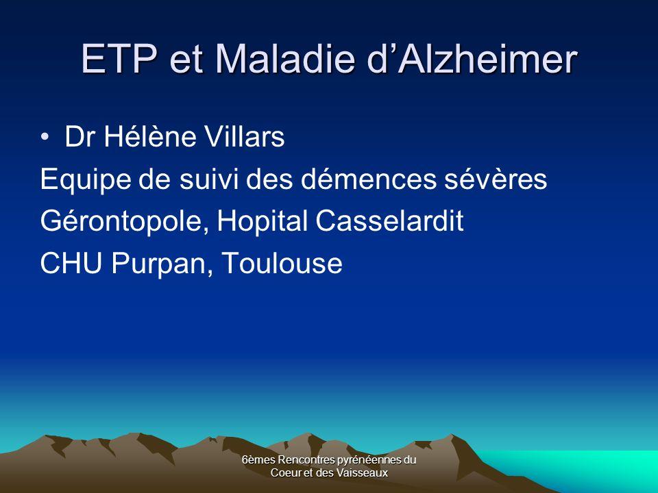 ETP et Maladie d'Alzheimer