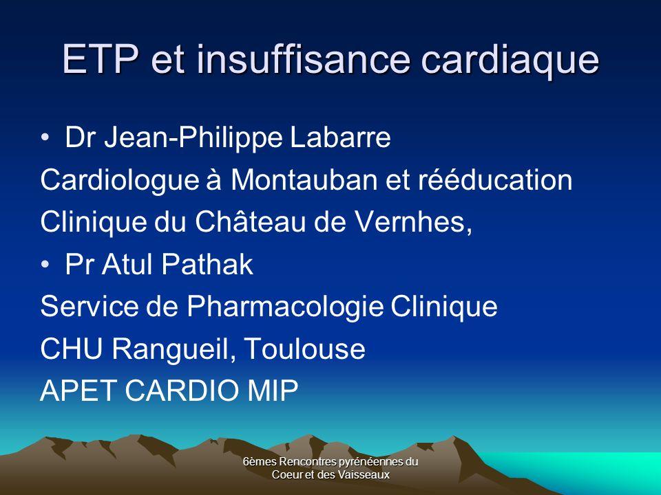 ETP et insuffisance cardiaque