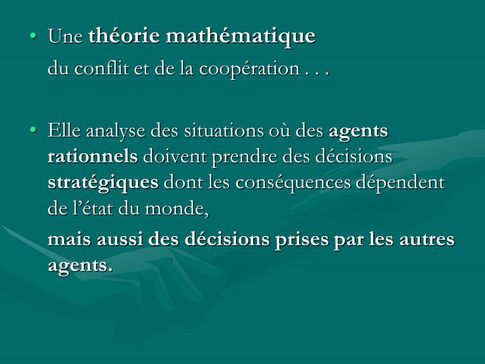 Une théorie mathématique