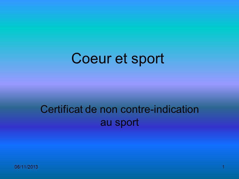 Certificat de non contre-indication au sport