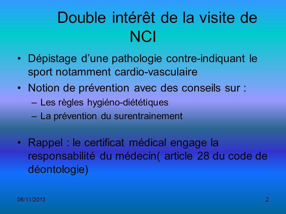Double intérêt de la visite de NCI
