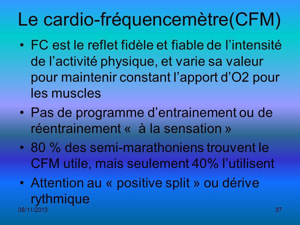Le cardio-fréquencemètre(CFM)