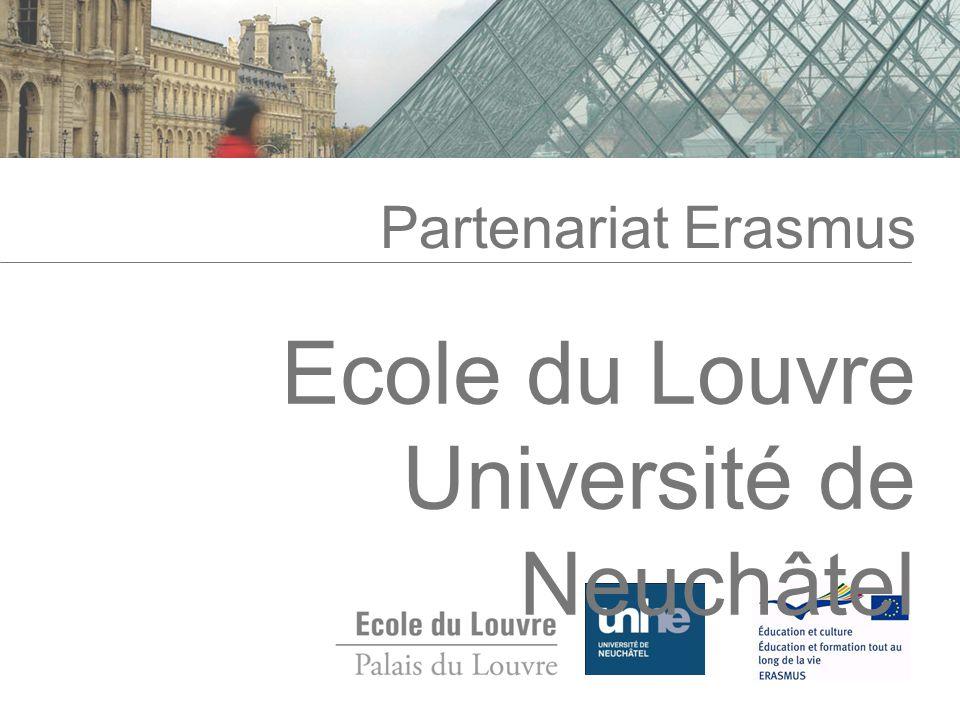 Ecole du Louvre Université de Neuchâtel