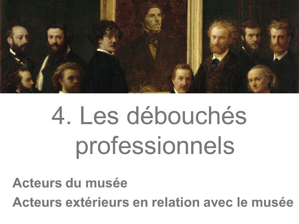 4. Les débouchés professionnels