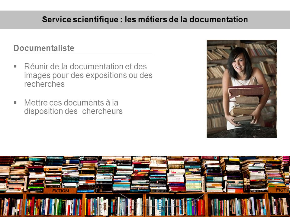 Service scientifique : les métiers de la documentation